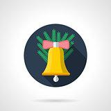 Christmas decor flat color vector icon