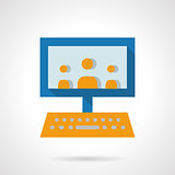 E-learning audience flat vector icon