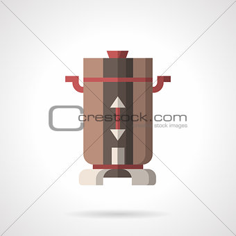 Flat color coffee mill vector icon