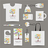 Corporate business style design, floral tree