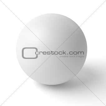 3d sphere with shadow on white