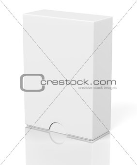 Closed box with slide cover isolated on white