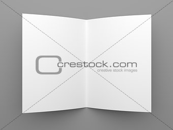 Blank folded flyer, booklet or brochure mockup