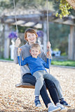 family swinging