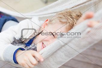 boy in hammock