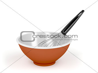Bowl and balloon whisk