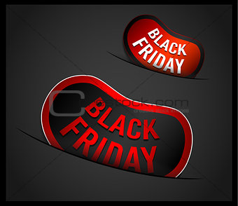 Black Friday Super Sale promotional Stick banners