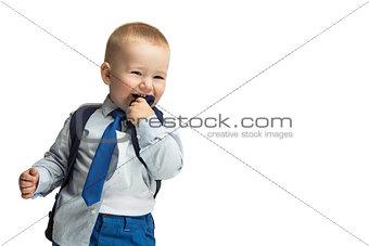 Business boy in tie