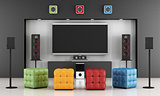 Colorful home cinema