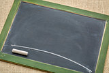 blank slate blackboard with chalk