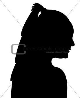 a lady head silhouette vector