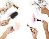 Beauty tools in action