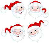 Santa Claus Face Expressions