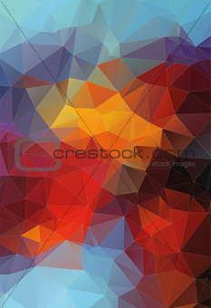 Abstract triangle flat colorful background