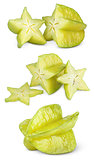 Carambola or starfruit with slices