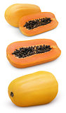Papaya fruit with cut