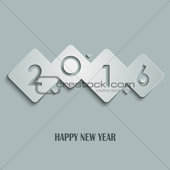 Abstract cube New Years wishes template