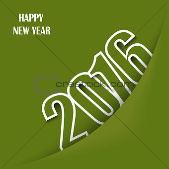 Green New Year wishes with pocket template
