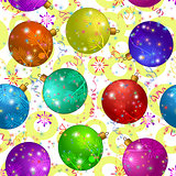 Seamless Background with Christmas Balls