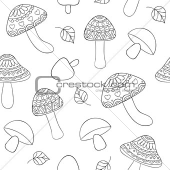 abstract mushrooms