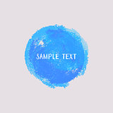 Blue vector watercolor round element