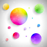 Vector set of colored balls