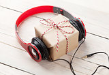 Gift box with headphones