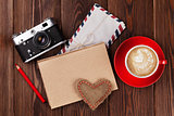 Valentines day toy heart and notepad for your text