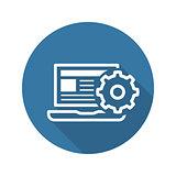 Product Integration Icon. Flat Design.