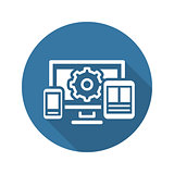 Website Optimization Icon. Flat Design.