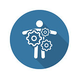 Key Person Icon. Business Concept. Flat Design.