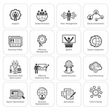 Flat Design Business Icons Set.