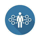 Flow Management Icon. Flat Design.