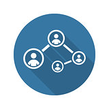 Social Connections Icon. Flat Design.
