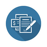 Documents  Icon. Flat Design.