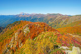 Autumn view of the mountains.
