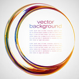 Techno Vector Curves Tapes Abstract Background
