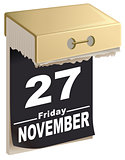 November 27, 2015 Black Friday time of great sales