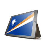 Tablet with Marshall Islands flag