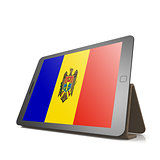 Tablet with Moldova flag