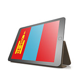 Tablet with Mongolia flag
