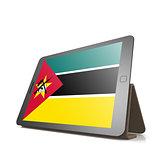 Tablet with Mozambique flag