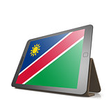 Tablet with Namibia flag