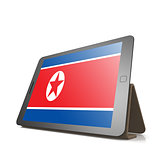 Tablet with North Korea flag