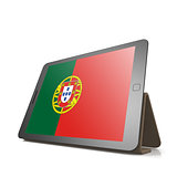 Tablet with Portugal flag