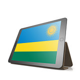 Tablet with Rwanda flag