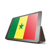 Tablet with Senegal flag