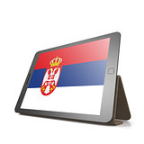 Tablet with Serbia flag