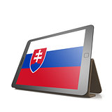 Tablet with Slovakia flag