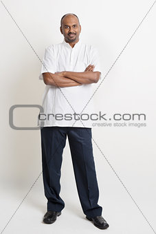 Casual mature Indian business man